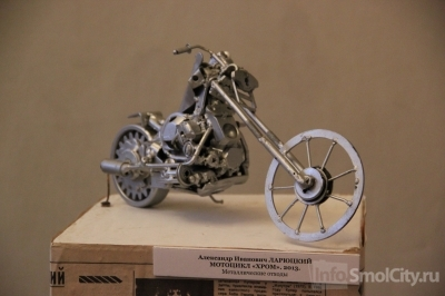 Смоленский скульптор превратил швейную машинку в мотоцикл (ФОТО)